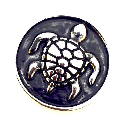 Antique Metal Turtle Snap