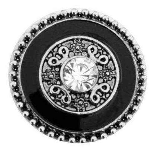 Black and Silver Shield  Snap
