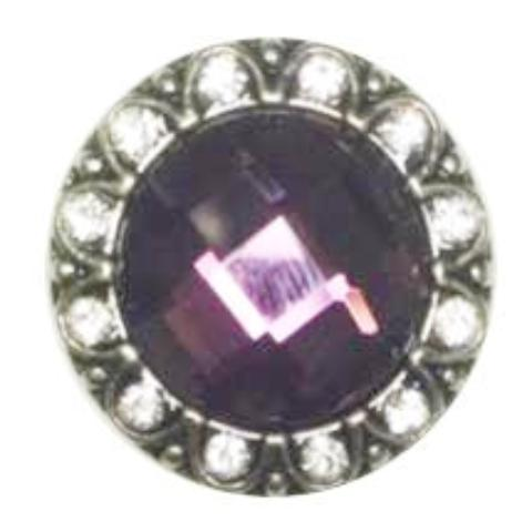 Magnificent Purple Stone Popper for Snap Jewelry