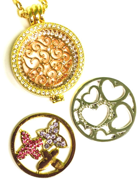 Hearts, Vines and Butterflies Coin Set