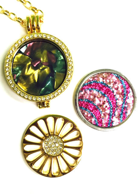Pink Sand, Daisy, and Sea Glass Coin