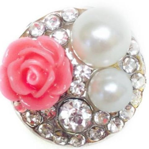 Lady Pearl Snap - Gracie Roze Yourself Expression Snap Jewelry