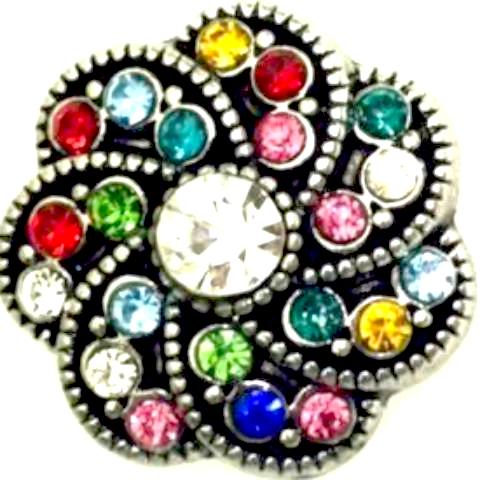 Multi Color Pinwheel Popper for Snap Jewelry