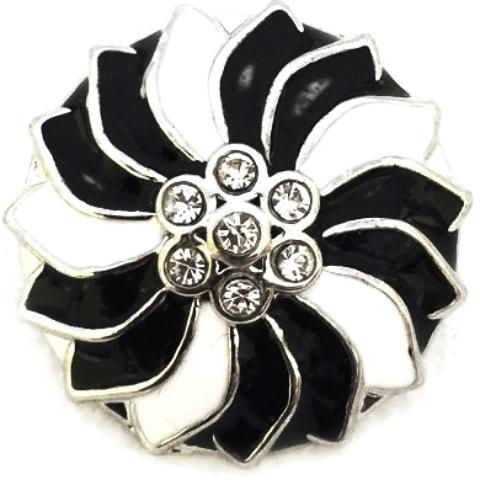 Black and White Pinwheel Popper