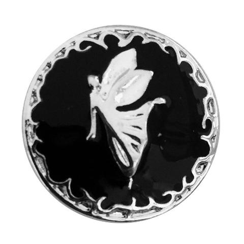 Black and Silver Fairy Angel Snap