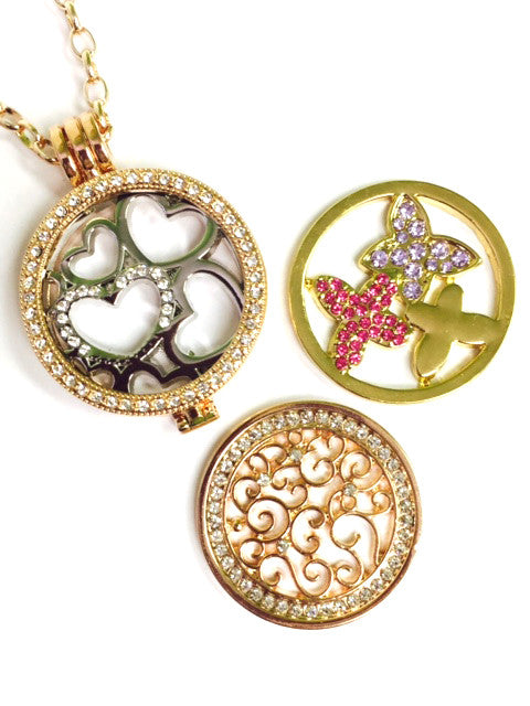 *Hearts, Vines and Butterflies Coin Collection :Choose Rose Gold, Silver, or Gold Shel