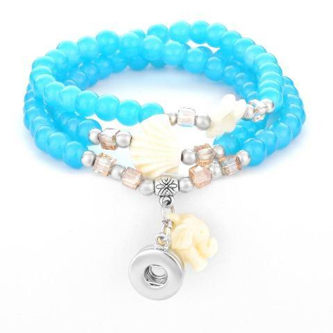 Aqua Mini Snap Bracelet/Necklace - Gracie Roze