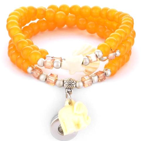 Yellow Mini Snap Bracelet/Necklace - Gracie Roze
