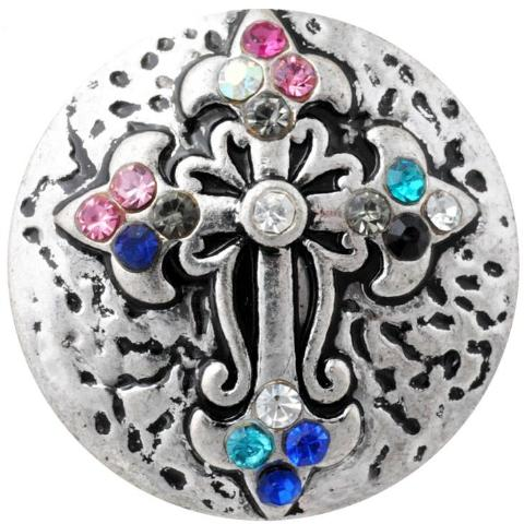 Colorful Crystal Cross Snap