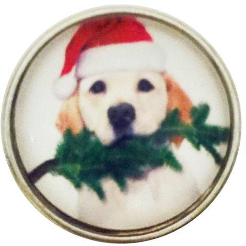 Yellow Lab Santa Christmas Snap - Gracie Roze Yourself Expression Snap Jewelry