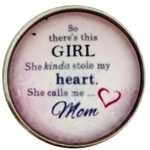 Daughter Stole My Heart Snap - Gracie Roze Yourself Expression Snap Jewelry