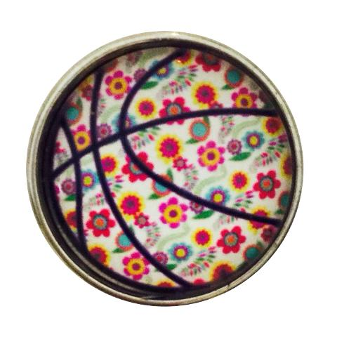 Floral Basketball Snap