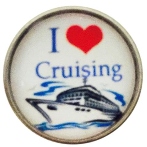 I Love Cruising Snap - Gracie Roze Yourself Expression Snap Jewelry