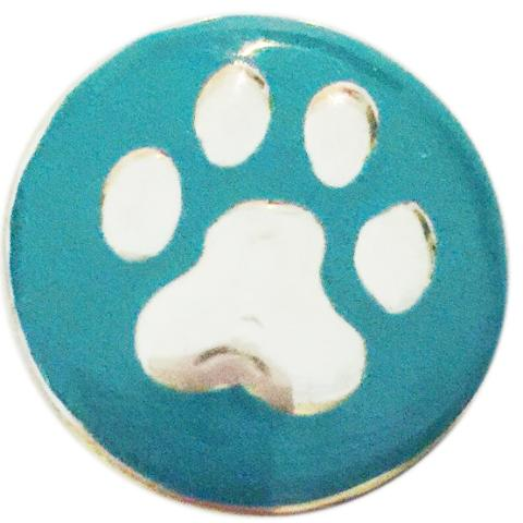 Teal Metal Paw Snap