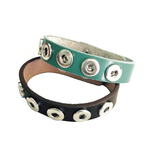 Leather 5 Snap Mini Snap Bracelet