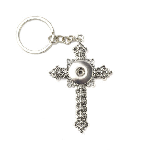Key Chain Cross Snap