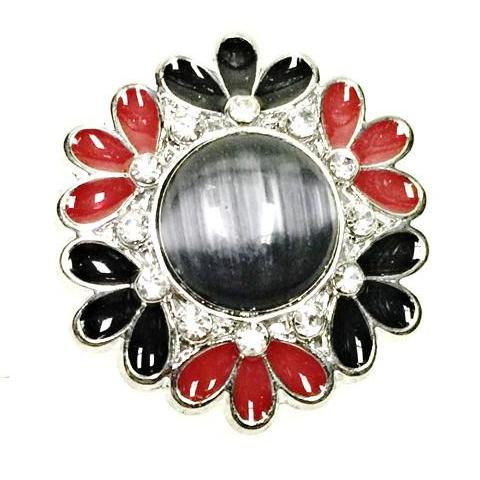 Black and Red  Trendy Flower Popper