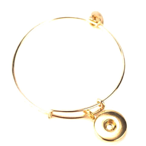 Dangle Gold Snap Bracelet
