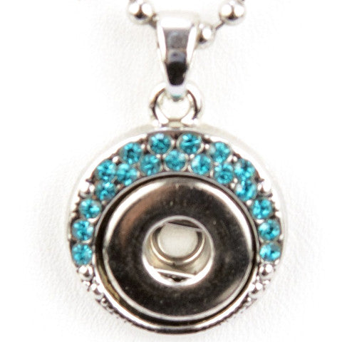 Half Circle Blue Mini Snap Necklace
