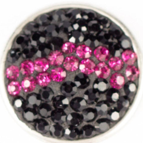 Cotton Candy Black and Pink Popper