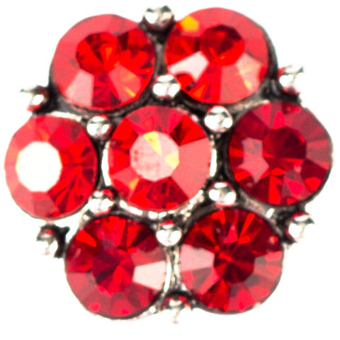 Chunky Red Crystal Snap - Gracie Roze Yourself Expression Snap Jewelry