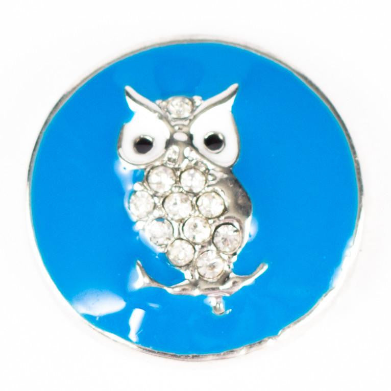 Owl Blue Metal Popper