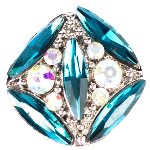 Estate Blue Crystal Snap - Gracie Roze Yourself Expression Snap Jewelry