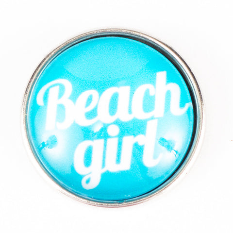 Beach Girl Popper for Snap Jewelry