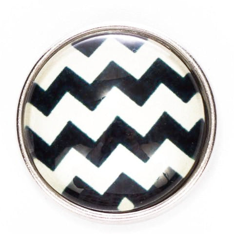 Black Chevron Snap - Gracie Roze Yourself Expression Snap Jewelry