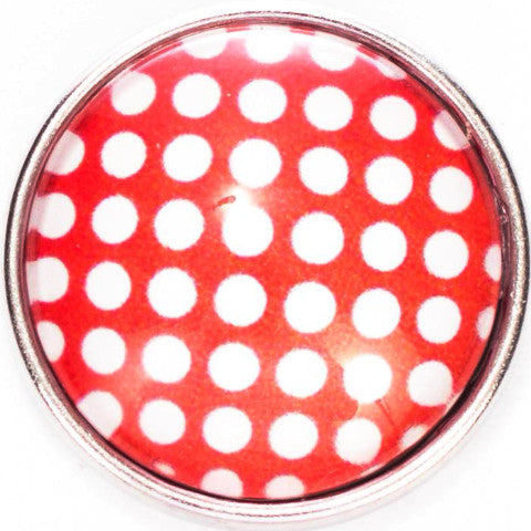 White Polka Dot with Red Popper