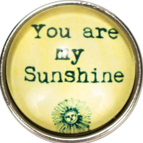 You are My Sunshine Popper for Snap Jewelry