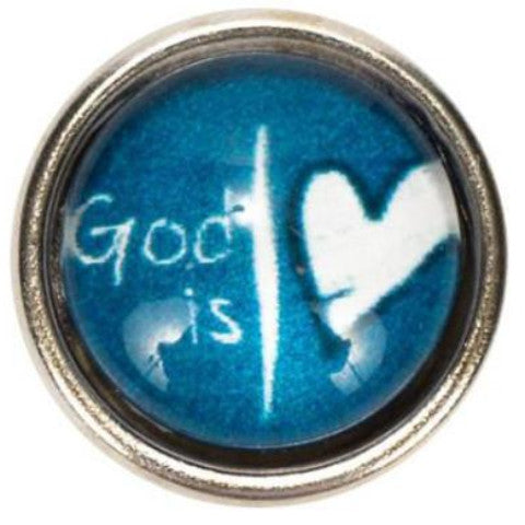 God is Love Mini Snap - Gracie Roze Yourself Expression Snap Jewelry