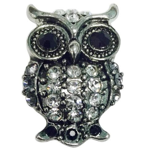 Dark Eye Crystal Owl Popper
