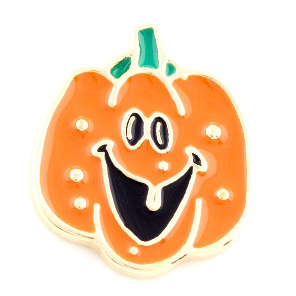 Happy Pumpkin Metal Snap