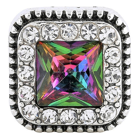 Iridescent Crystal Square Snap