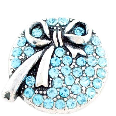 Baby Blue Bow Crystal Snap