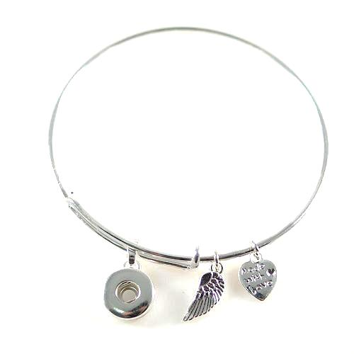 Mini Snap Bangle Bracelet - Gracie Roze