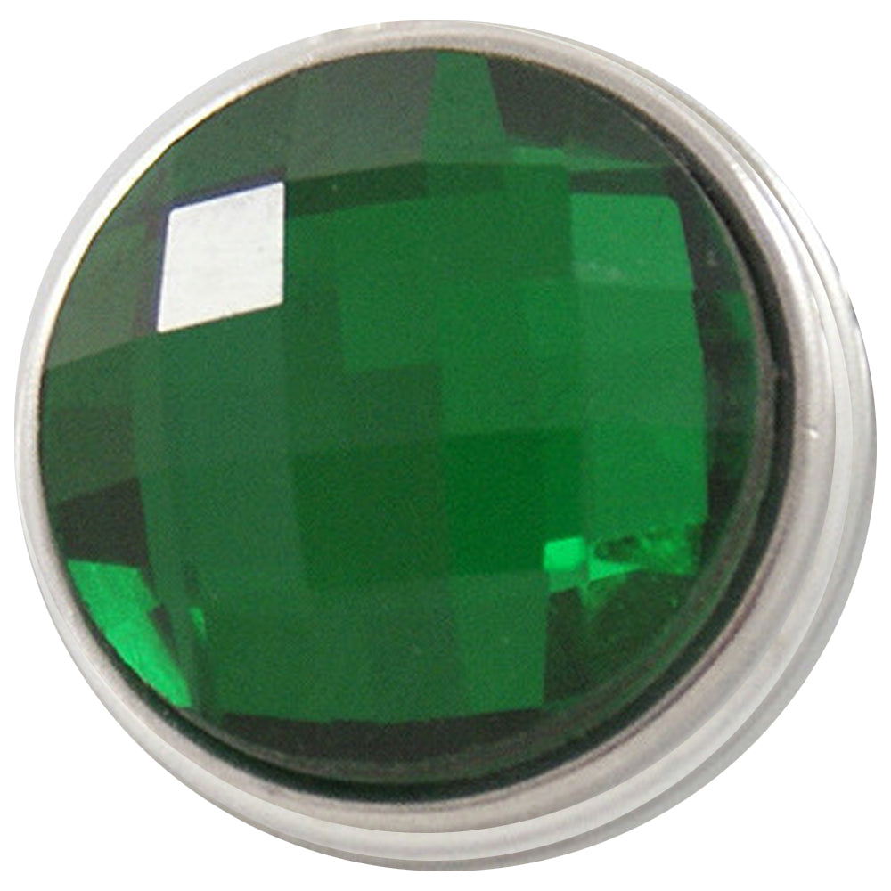Facet Green Crystal Snap - Gracie Roze