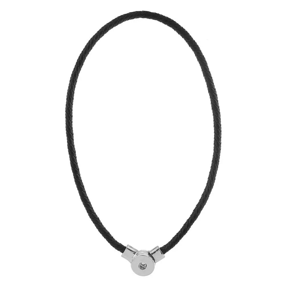 Brown Leather Magnet Necklace - Gracie Roze