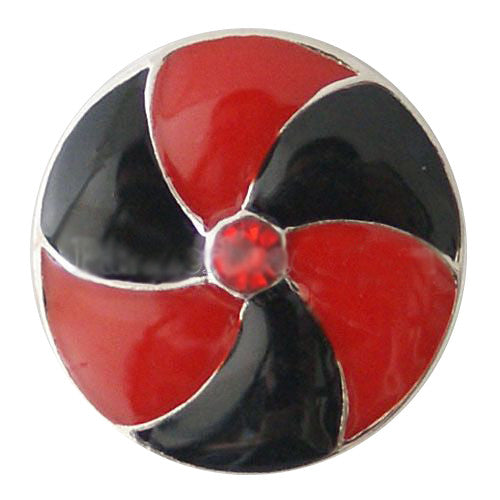 Black and Red Pinwheel Snap