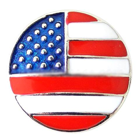 Bright Metal American Flag Snap