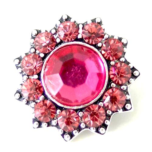 Pink Cluster Petal Snap - Gracie Roze Yourself Expression Snap Jewelry