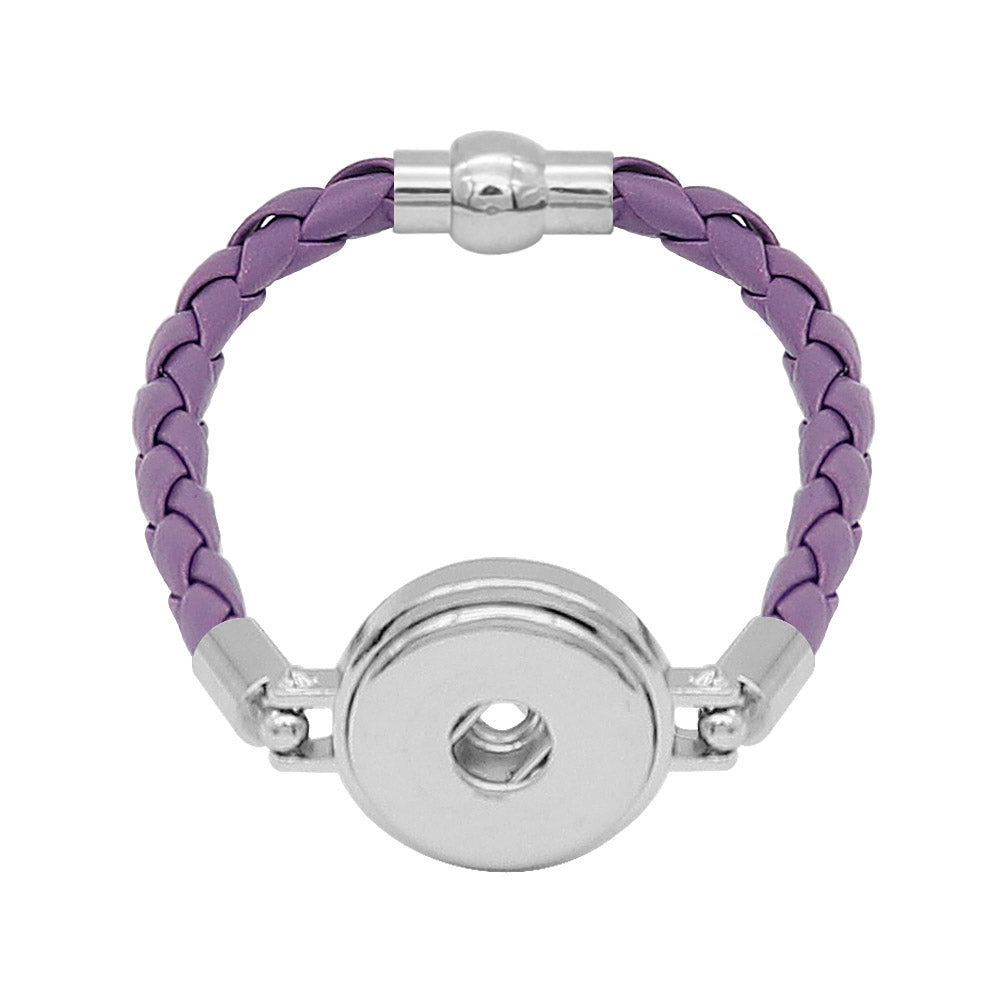 Lavender Leather Braided Bracelet - Gracie Roze