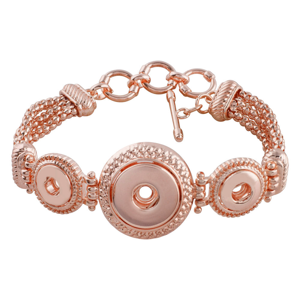 2 Minis and Standard Rose Gold Toggle Bracelet - Gracie Roze