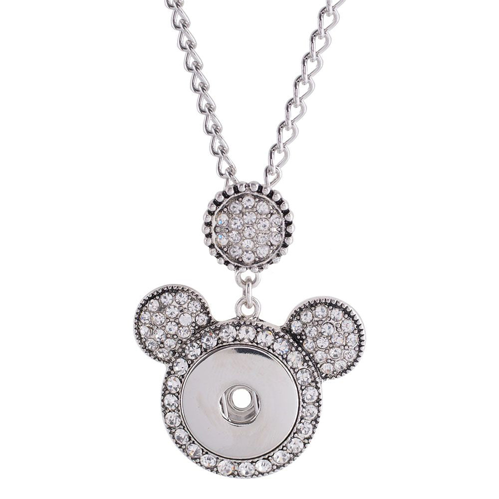 Crystal Mouse Ears Necklace - Gracie Roze