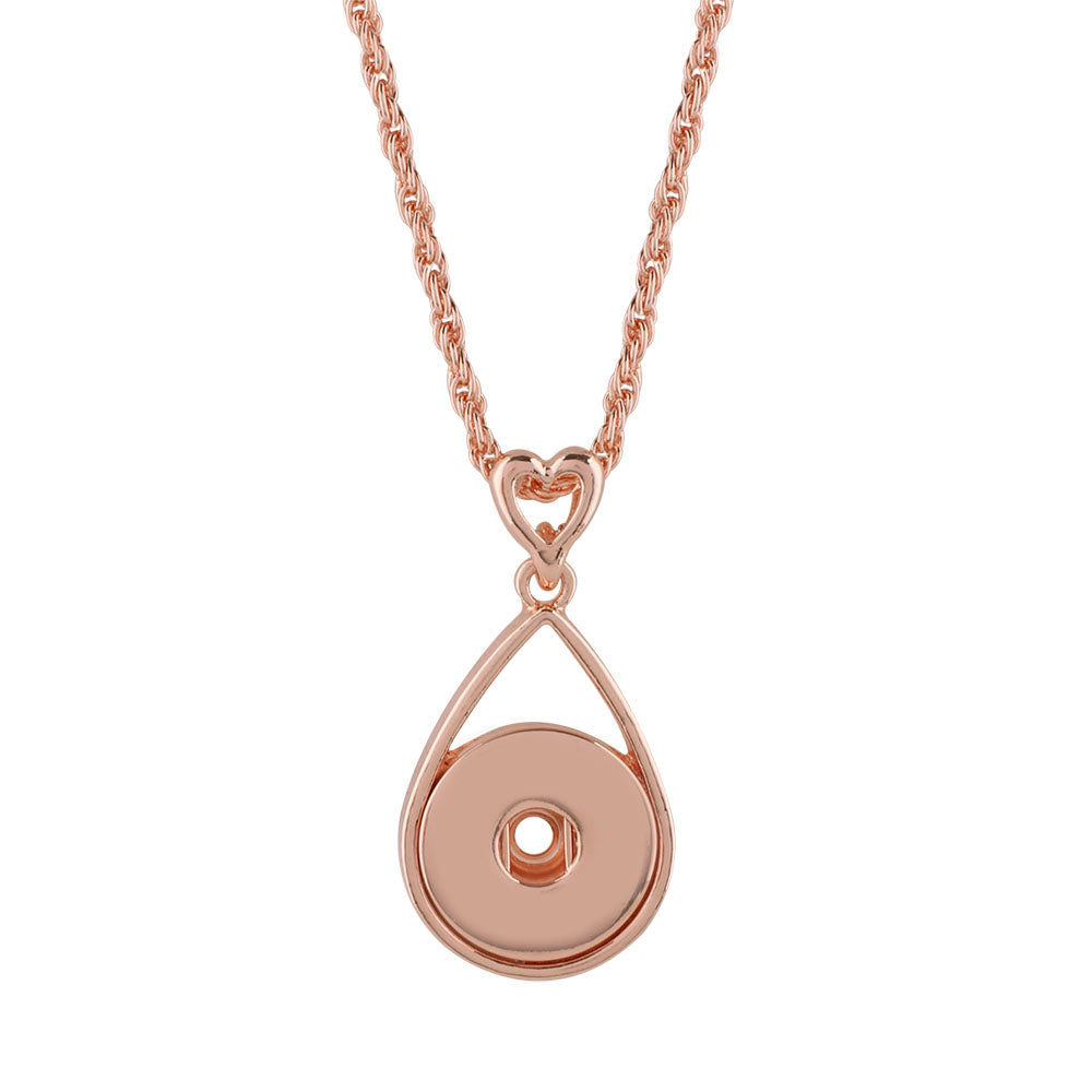 Rose Gold Heart Drop Necklace - Gracie Roze