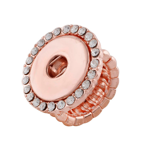 Rose Gold Ring with Crystals