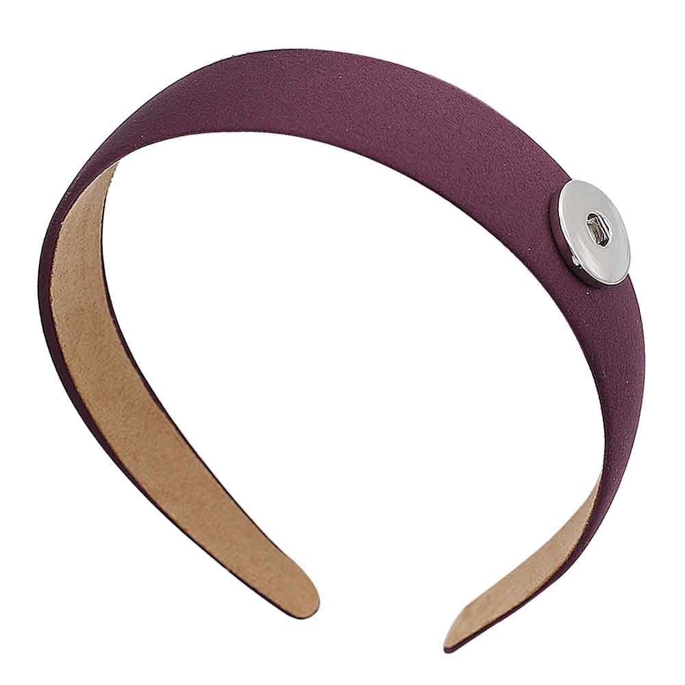 Purple Snap Headband - Gracie Roze