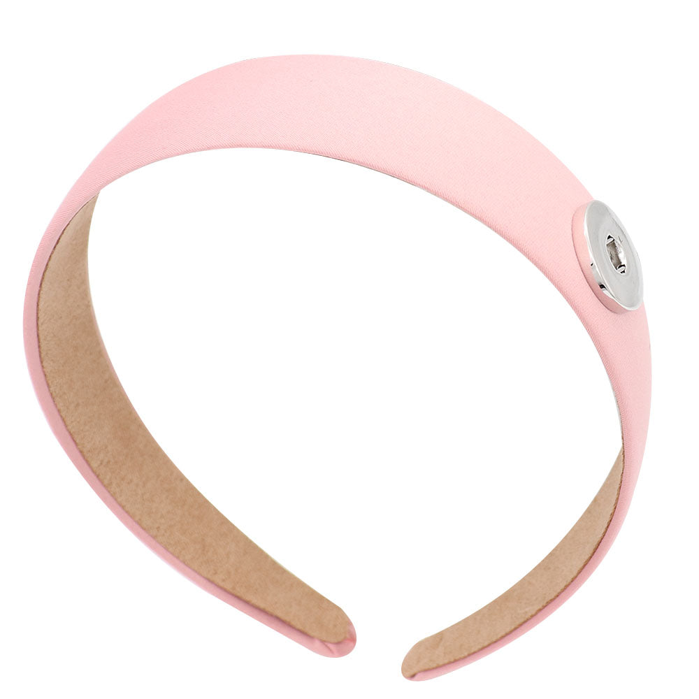 Pink Snap Headband - Gracie Roze