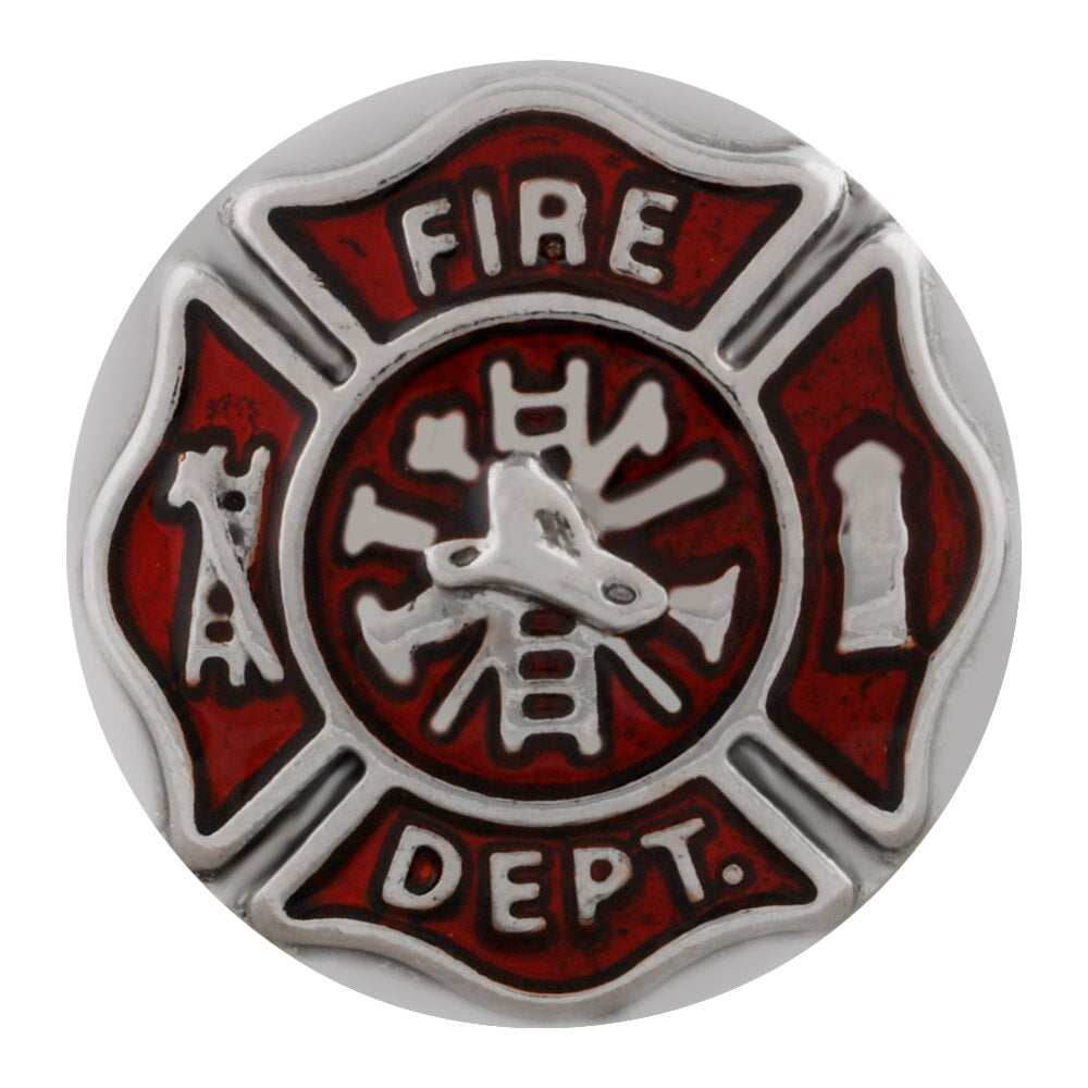 Fire Department Snap - Gracie Roze Yourself Expression Snap Jewelry